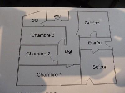 Maison de Type 4 avec jardin et garage A VENDRE - LANGON - 85 m2 - 190000 €